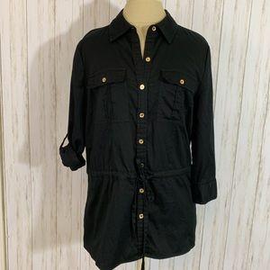 Michael Kors Black Button Shirt